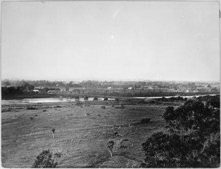 First Fitzherbert Bridge over the Manawatu River