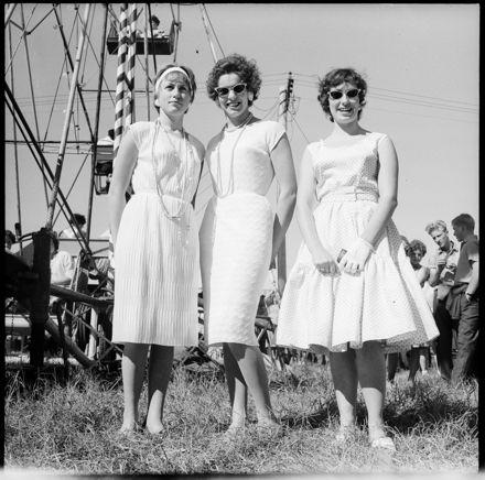 [Three Women Enjoying the Sunshine at The A.&P. Show]