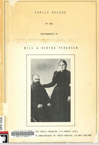 """Family Record of the Descendants of Nils and Bertha Pedersen"""