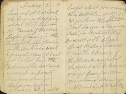 Shipboard diary p15