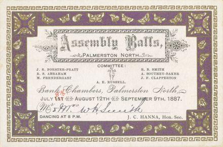 Invitation to Assembly Ball
