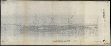Plan of Railway yards layout, Palmerston North