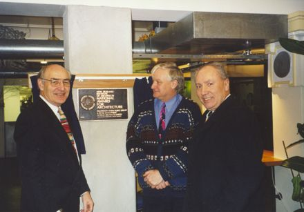 'National Award for Architecture' plaque, Palmerston North City Library