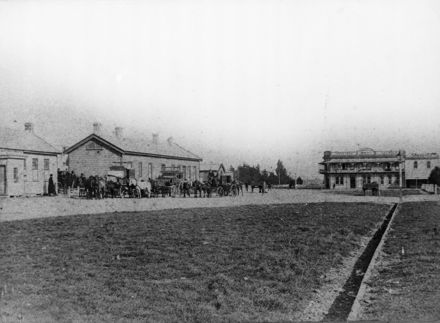 Palmerston North Railway Station in The Square
