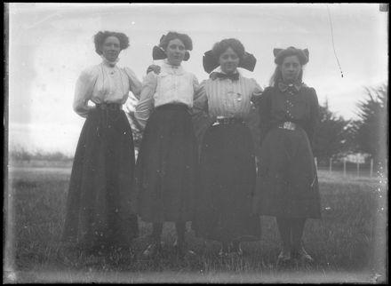 Young Women in Field