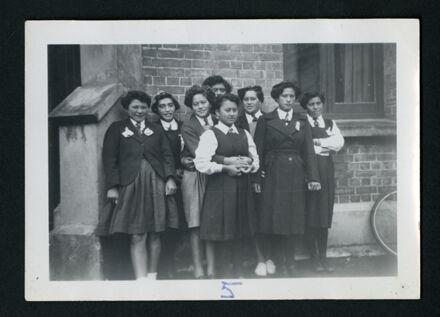 Pupils from Tuarakina Maori Girls College at the Manawatu District Bible Class Girls Easter Camp, St Andrew's Presbyterian Church