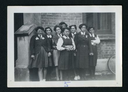Pupils from Tuarakina Māori Girls College at the Manawatu District Bible Class Girls Easter Camp, St Andrew's Presbyterian Church