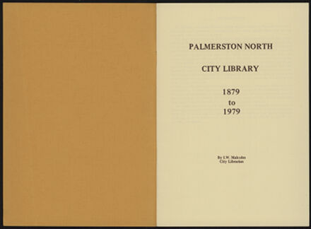 History of Palmerston North City Library, 1879-1979 2