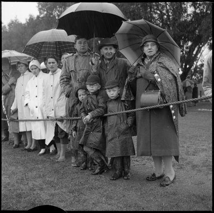 """Good Keen Hockey Fans"" in the Rain"