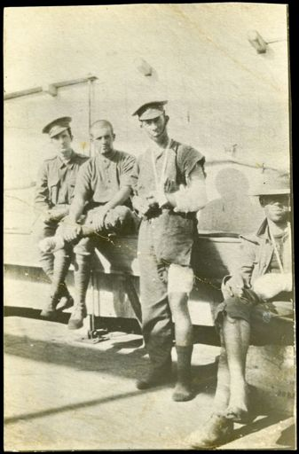Soldiers after serving at Gallipoli