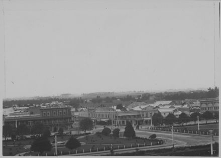 A View of the Square - Looking Towards Rangitikei Street.