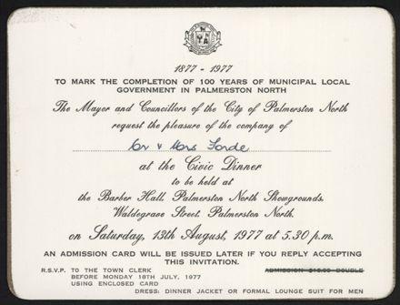Civic Dinner Invitation