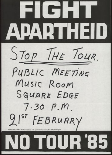 Coalition Against The Tour poster