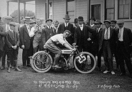 Alex Anderson and Triumph motorcycle