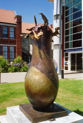 Sculpture at Universal College of Learning (UCOL)