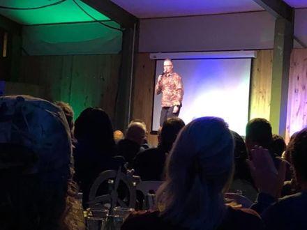 Paul Ego hosting Ashhurst School comedy night