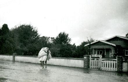 Flooding outside 249 Victoria Street