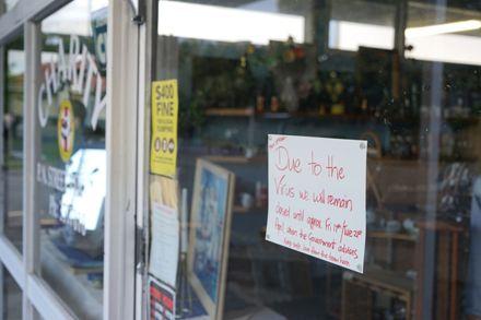 COVID-19 Closure Sign - Street Van Charity Store