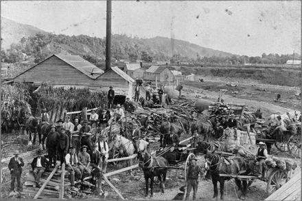 Stansell's flaxmill,Waikanae