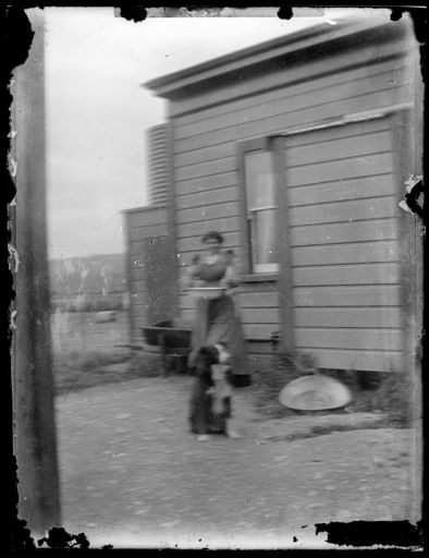 Unidentified Woman and Dog