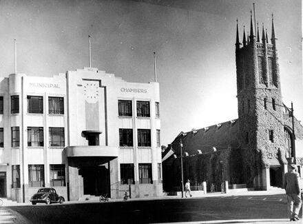 Municipal Chambers and All Saints Church, Church Street