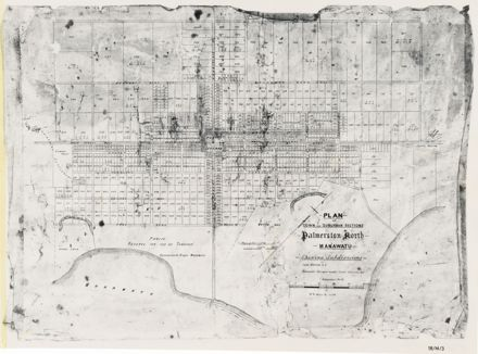 Plan of Town and Suburban Sections, Palmerston North, Manawatu (Showing Subdivisions)