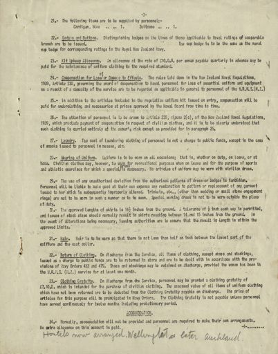 Memorandum: Women's Royal Naval Service (New Zealand) conditions of service Page 3