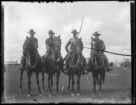 Unidentified Soldiers on Horseback