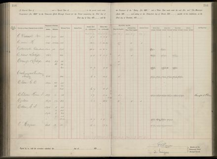 Palmerston North Rate Book, 1893 - 1896, 221