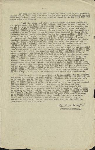 Women's War Service Auxiliary Memorandum No. 19 Page 2