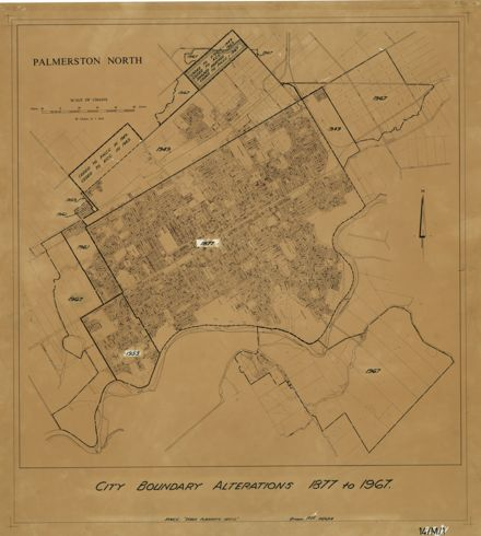 Palmerston North City Boundary alterations 1877 to 1967
