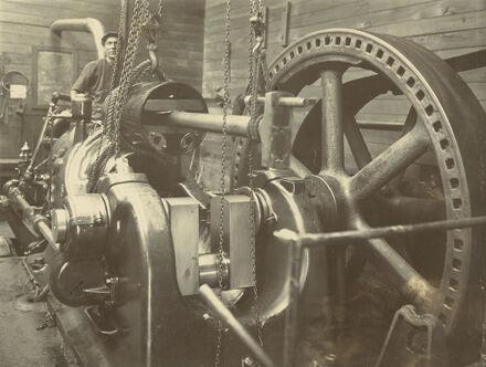 Gas engine, Miranui Flaxmill, near Shannon