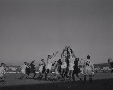 Rugby Game at Palmerston North Showgrounds