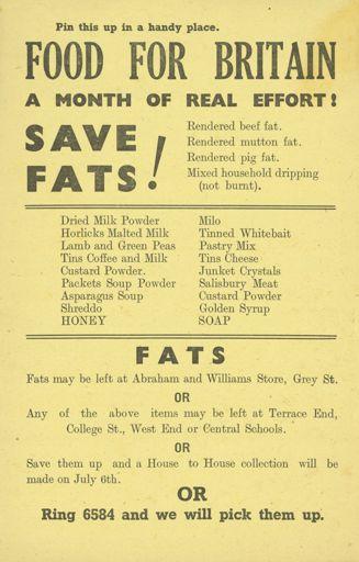 'Food for Britain' leaflet