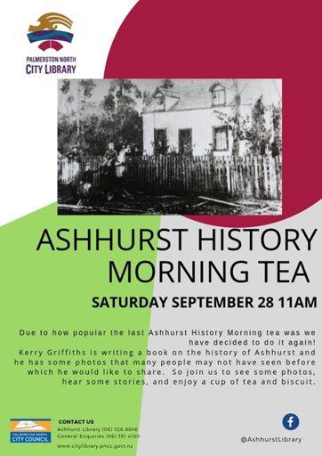 History morning talks in Ashhurst