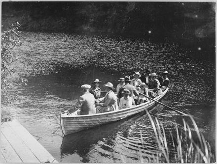Boating in the Turitea Stream