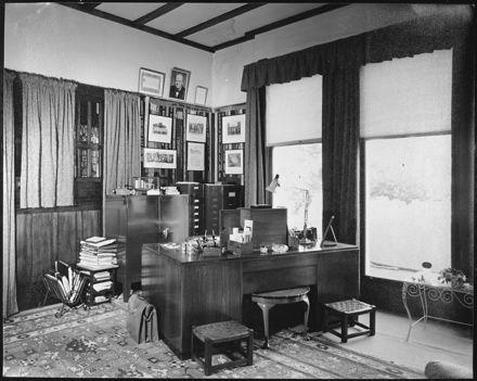 Brian Keiller's study at 'Atawhai', Fitzherbert