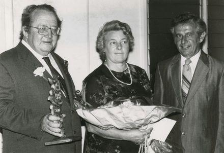Mr and Mrs J Walding with Mr John Wybrow