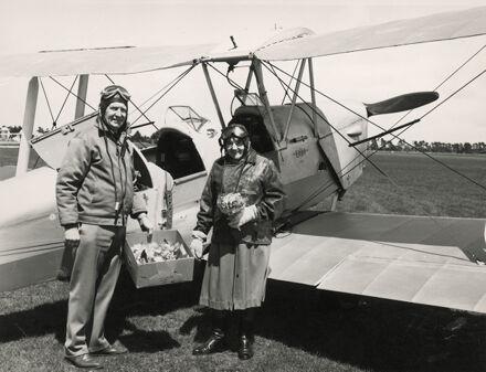 Violet Hibbard & John Mackie, Dannevirke Aerodrome
