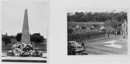Unveiling of War Memorial, Fitzroy Park