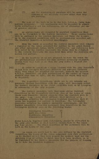 Women's War Service Auxiliary Memorandum No. 39 Page 2