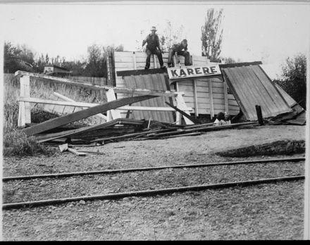 Storm Damaged Karere Railway Station