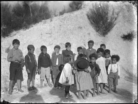 Maori Children with Bowler Hat