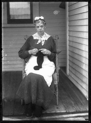 Unidentified Knitting Woman