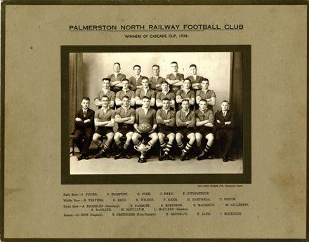 Palmerston North Railway Football Club, 1938