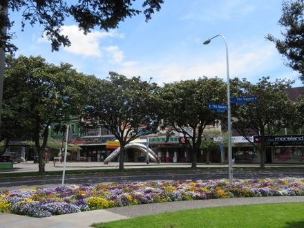 Corner of Coleman Mall and The Square