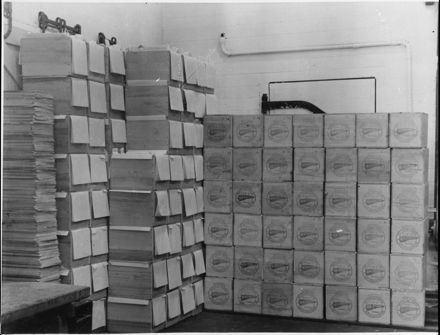 Butter boxes at Rongotea Co-operative Dairy Company Ltd
