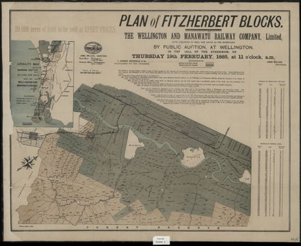 Plan of Fitzherbert Blocks