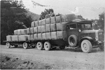 Truckload of wool bales