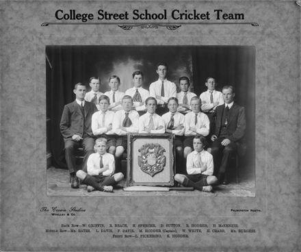 College Street School cricket team